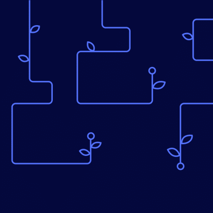 SystemSeed squiggles on a dark blue background