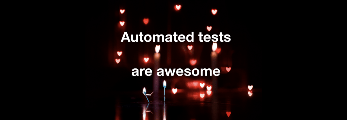 Automated tests banner