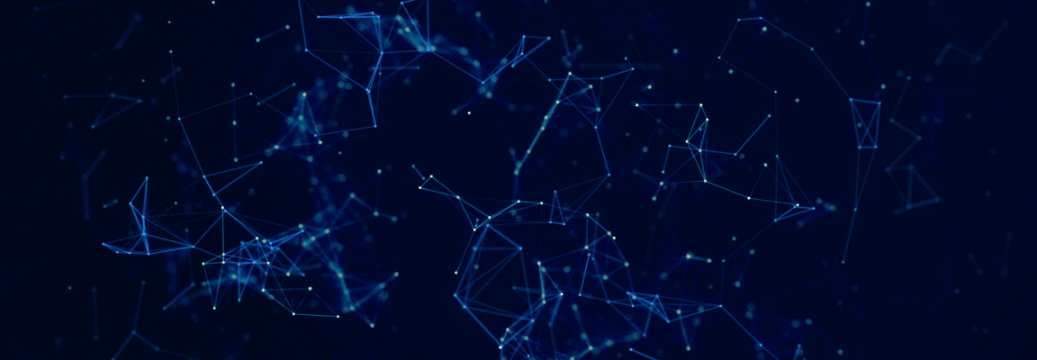 Blue visualisation of connected data