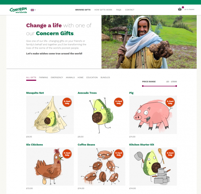 Concern gifts homepage